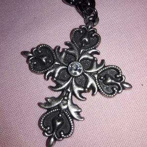 Jewelry - Cross Pendant Necklace & Earring Set